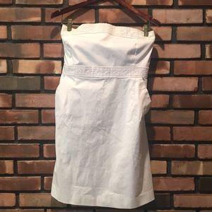 Size 16 New York & Company White Strapless Dress